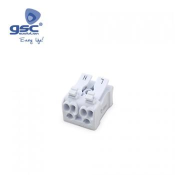 Klemmenanschluss 2-polig + Doppeldrucktaster (Beutel 5 Stück) Ref. 1105524
