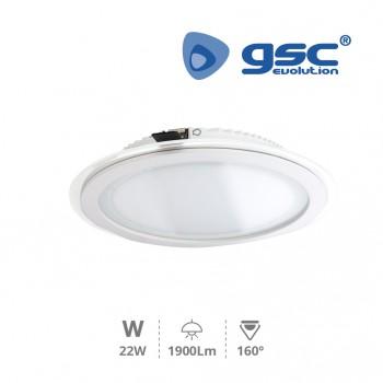 LED gläsern Einbaustrahler Downlight Aurora (Ø240x36mm) Ref. 000702145-000702146