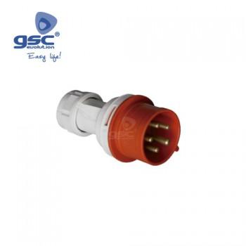 CEE-Stecker 5P (3P+N+PE) Ref. 002300388-002300389