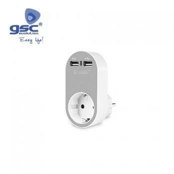 Steckdose mit 2fach USB Ausgang Ref. 000203364