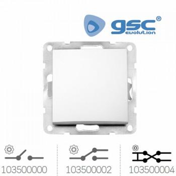 Unterputz Wipp-Wechselschalter Iota (Weiß) Ref. 103500000-103500002-103500004