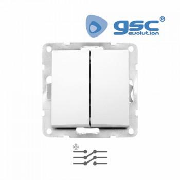 Unterputz Doppelschalter  Iota (Weiß) Ref. 103500008