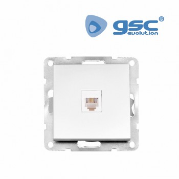 Unterputz Telefondose Iota (Weiß) Ref. 103500012