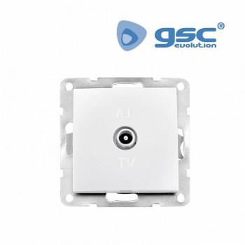 Unterputz TV Antennendose (Weiß) Ref. 103500014