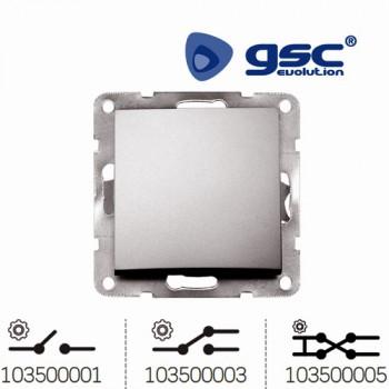 Unterputz Wipp-Wechselschalter Iota (Silbergrau) Ref. 103500001-103500003-103500005