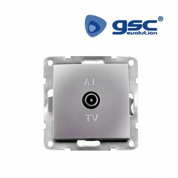 Unterputz TV Antennendose (Silbergrau) Ref. 103500015