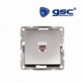 Unterputz Netzwerkdose Iota (Silbergrau)  Ref. 103500017