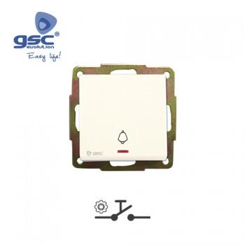 Unterputz Klinge Schalter  (Weiß) + LED Ref. 000201009