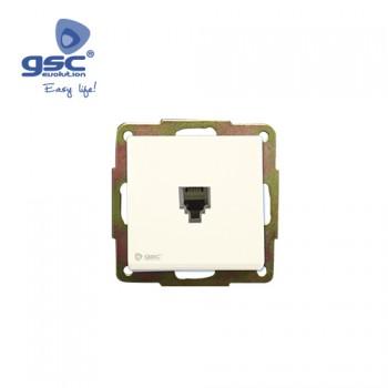 Unterputz Telefondose (Weiß) Ref. 000201014