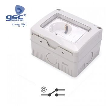 Aufputz Steckdose + Schalter für Feuchtraum Ref. 001203753