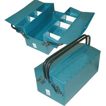 Metall Werkzeugkasten mit 3 Fächer