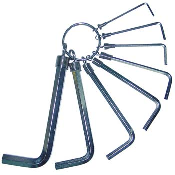 Sechskant-Winkelschraubendreher-Satz auf Ring
