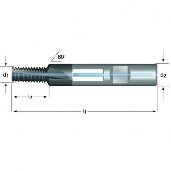 J205 - M Gewindefräser Spiralnut 10° innere Kühlmittelzufuhr