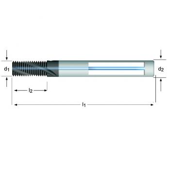 J215 - M Gewindefräser Spiralnut 27° innere Kühlmittelzufuhr