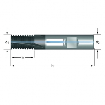 J225 - MF Gewindefräser Spiralnut 10° innere Kühlmittelzufuhr