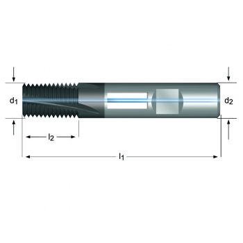 J235 - UNC Gewindefräser Spiralnut 10° innere Kühlmittelzufuhr