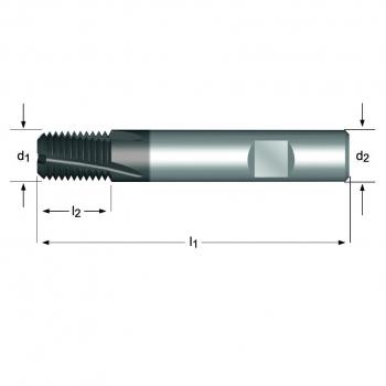 J260 - NPT Gewindefräser Spiralnut 10°