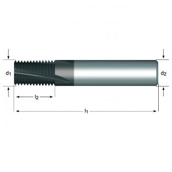 J280 - G(BSP) Gewindefräser Spiralnut 10°