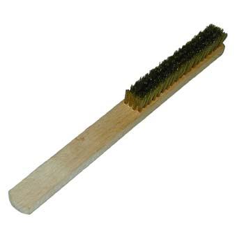 Hand-Bürste mit Holzgriff