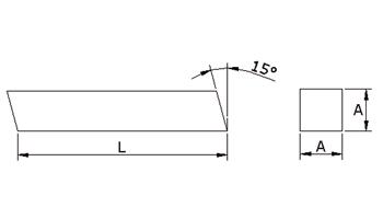 K520 - Drehlinge Vierkant h13