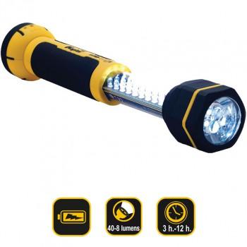 Teleskopische wiederaufladbare Led-arbeitstaschenlampe 30+6 Ref. KL30LWL