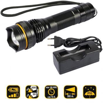 Wiederaufladbare Taschenlampe 500 Lumen Ref. KL500CR