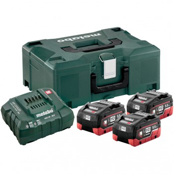 Basic-Set 3 Akkupack LIHD 5,5 AH + Ladegerät  ASC 30-36 + Koffer