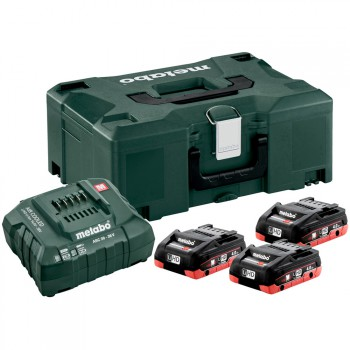 Basic-Set 3 Akkupack LIHD 4,0 AH + Ladegerät ASC 30-36 + Koffer