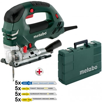 Set Stichtsäge metabo mod. steb 140 plus + 20-Teilig Stichsägeblattsortiment