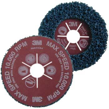 CLEAN & STRIP Scotch-Brite™ Grobreinigungsscheibe blau mit Vulkanfiberträger