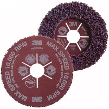 CLEAN & STRIP Scotch-Brite™ Grobreinigungsscheibe lila mit Vulkanfiberträger