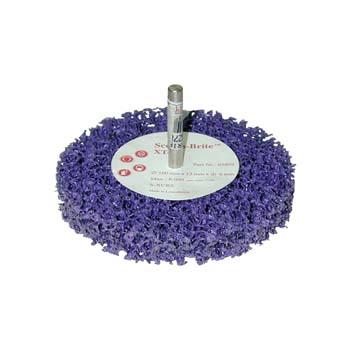 Grobreinigungsscheibe SCOTCH-BRITE™ Lila für universelle Reinigungssanwendungen mit ein 6 mm. Shaft
