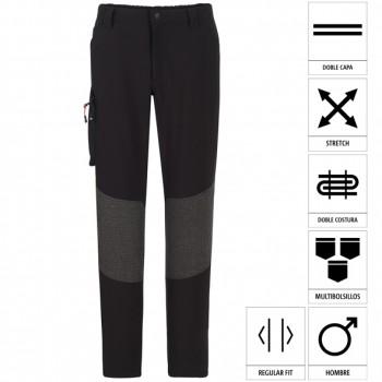 Regular-Fit-Hose mit Trekking-Look und Verstärkungen auf der Rückseite Mod. 04830