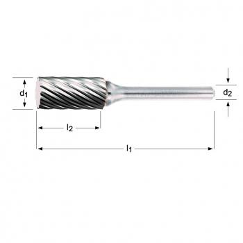 P601 - Frässtift- Zylinder ohne Stirnverzahnung