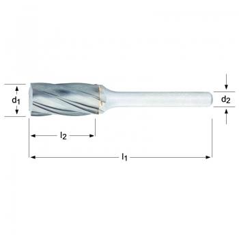 P701 - Frässtift- Zylinder ohne Stirnverzahnung
