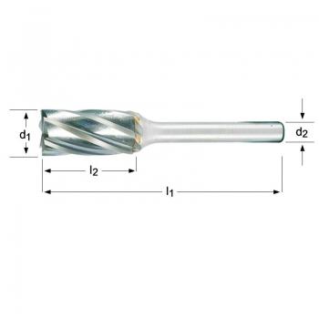 P703 - Frässtift- Zylinder mit Stirnverzahnung
