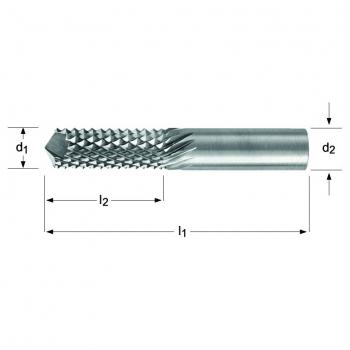 P843 - Diamantfräser – Verzahnung – 135°-Bohrschneide