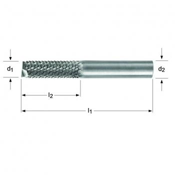 P844 - Diamantfräser – Verzahnung – 180°-Bohrschneide