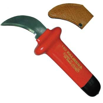 Isoliertes Messer, abgewinkelt.