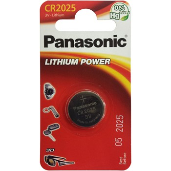 1er Pack Knopfzelle Lithium PANASONIC CR2025 von 3 V.