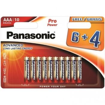 10-er Blister Alkaline Batterien Panasonic  LR03, 1,5 V.