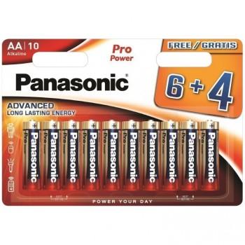 10-er Blister Alkaline Batterien Panasonic LR6, 1,5 V.