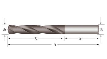 R457 - MP-X Spiralbohrer, kurz - Kühlkanal 3XD