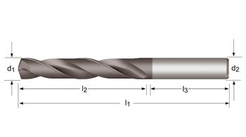 R458 - MP-X Spiralbohrer, kurz 3XD