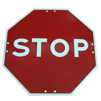 STOP Schild Ref. R-2
