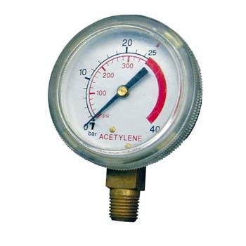 Manometer für Acetylen-Druckminderer