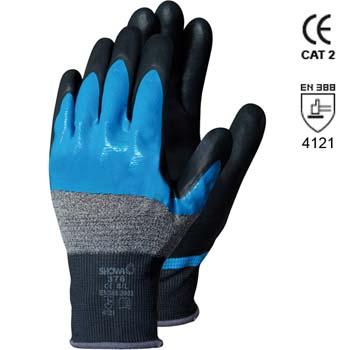 Baumwolle/Nylon Handschuhe mit Nitrilschaumbesichtigung auf Nitril Mod. 376