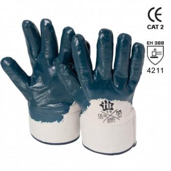Blaue Nitrilhandschuhe mit Sicherheitsstulpe Mod. 9031B