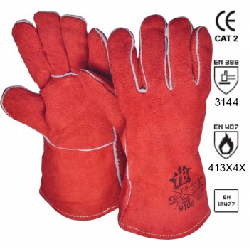 Spaltleder Schweißer-Handschuhe Mod. 910B