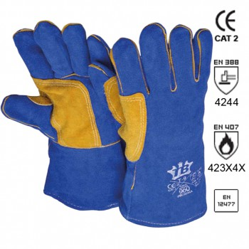 Spaltleder verstärkte Schweißer-Handschuhe Mod. 960PROXIMA